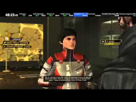 Deus Ex: Human Revolution All-Missions speedrun in 1:31:39 [