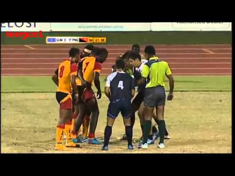 PNG Vs Guam 2015 15th South Pacific Games Rugby 7s pool A match