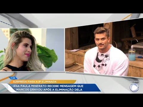 Ana Paula Se Emociona Com Depoimento De Marcos Após Sua Eliminação De A Fazenda - Nova Chance