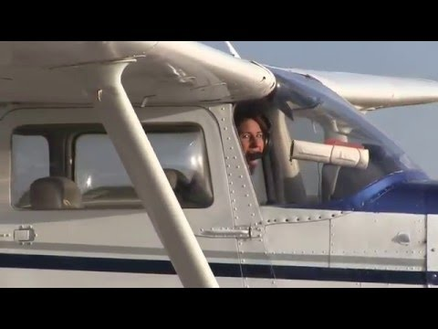 Jen's First Solo Flight Lantana Airport LNA Florida Cessna 172