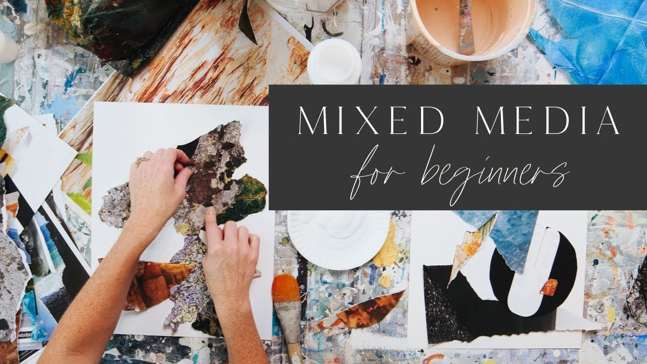 Mixed Media Painting For Beginners 💎