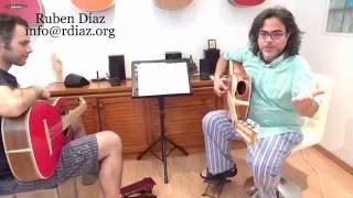 Paco de Lucia´s creative style music lesson 5 / Tangos beyond modal harmony /Ruben Diaz / Spain CFG