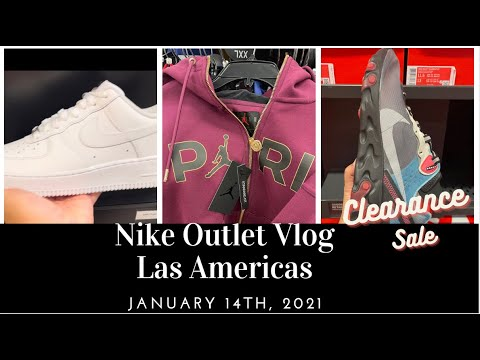 simbólico corona tornillo  Nike Factory Store Las Americas Vlog - 1.14.2021 - MLK SALE - 30%OFF  Clearance Rack/Apparel - YouTube