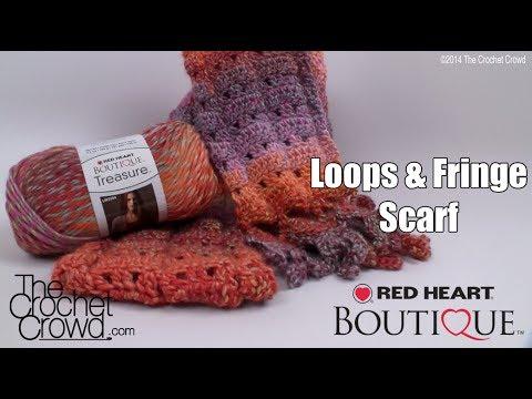 Crochet Loops & Fringe Scarf Tutorial