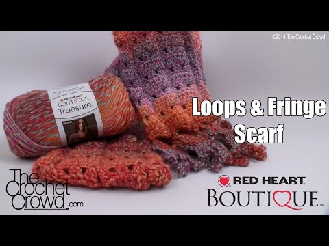 Crochet Tutorials On Youtube : Crochet Loops & Fringe Scarf Tutorial - YouTube