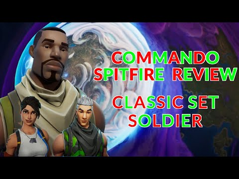 Fortnite Save The World Commando Spitfire Review | Classic Set Soldier