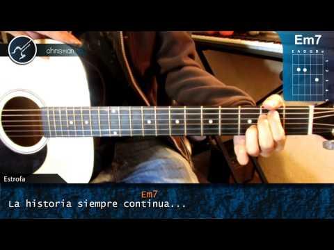 """Cómo Tocar """"No Puedo Dejarte De Amar"""" De Kalimba En Guitarra (HD) Tutorial - Christianvib"""