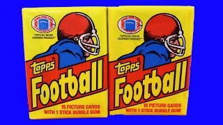 (2) 1981 Topps Football Wax Packs Fresh from Box pack opening Possible Joe Montana