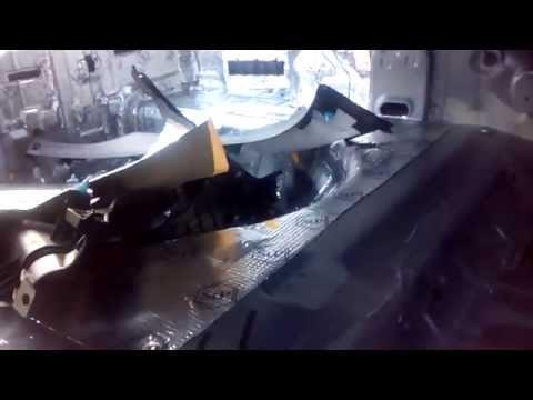 Как снять задние сидения на Kia Rio