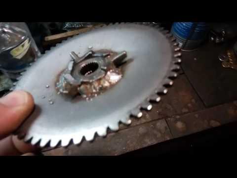 139QMB модернизация шкива вариатора или проблема сорваных шлицов на коленвале скутера