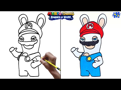 How to Draw Mario Rabbid Sparks of Hope    Step by Step