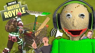 Kids RAGE at Baldi's Basics Fortnite Voice Trolling! | Baldi's Voice Impressions + Principal & Sweep