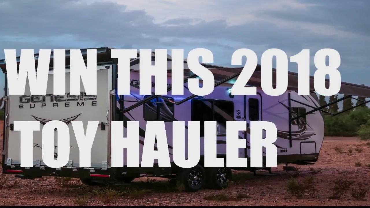 2018 genesis toy hauler. wonderful hauler win a 2018 genesis supreme toy hauler dec 3rd intended genesis toy hauler
