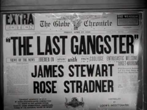 The Last Gangster (1937) title sequence