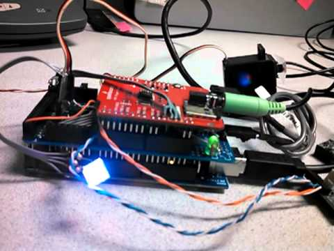 Arduino MP3 player with DTMF decode to control servos and PWM (RGB LEDS)