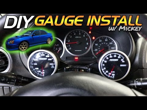 OUR SUBARU WRX GETS PERRIN GAUGES! (BOOST + OIL TEMP) – DIY Install w/ Mickey Andrade