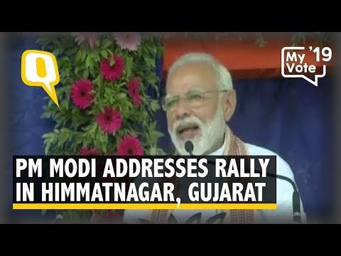 PM Modi Addresses a Rally in Himmatnagar, Gujarat