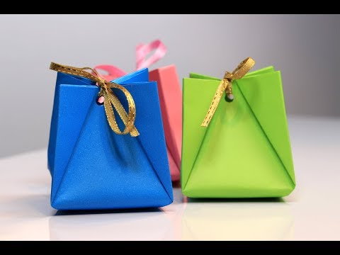 Origami Gift Bag Tutorial - How to Make a Paper Gift Bag - DIY paper craft