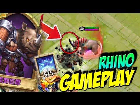 Castle Clash| Rhino Epic Gameplay| Rhino Un Fantastico Heroe Que Debes Tener| Nuevo Heroe Rhino