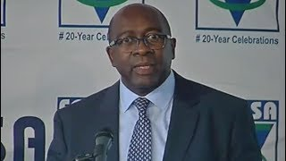 Finance Minister Nhlanhla Nene makes his 1st public appearance