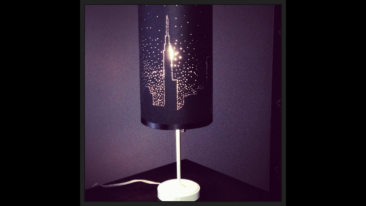Starry Night Lamp Shade DIY By Tanya Memme As Seen On Home - Diy cloud like yarn lampshade