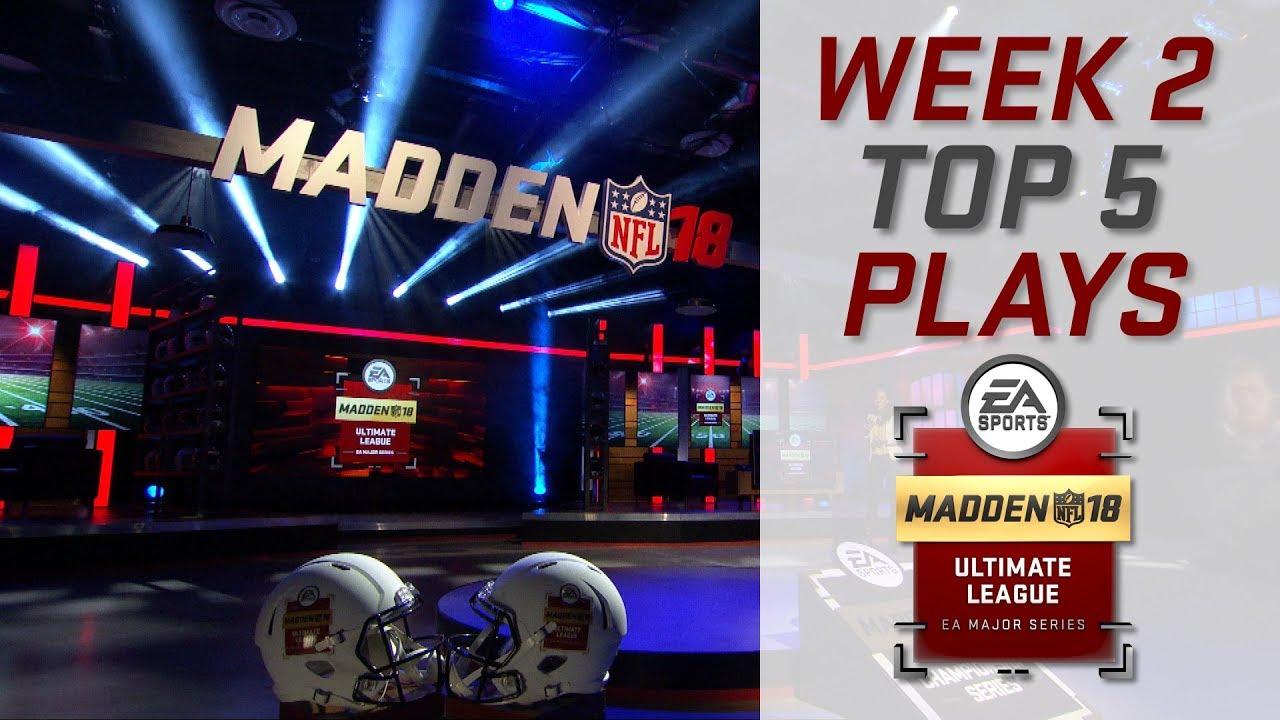 Madden 18 Ultimate League - Week 2 Top Plays!