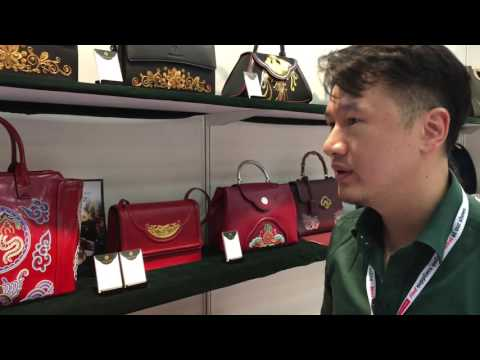 High-end embroidered leather bags embody China's diverse heritage