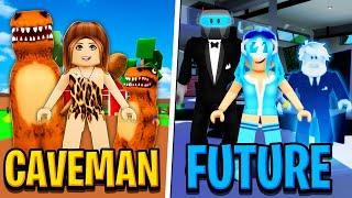 CAVEMAN MOM vs FUTURE MOM in Roblox BROOKHAVEN RP!!
