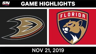 NHL Highlights | Ducks vs. Panthers - Nov. 21, 2019