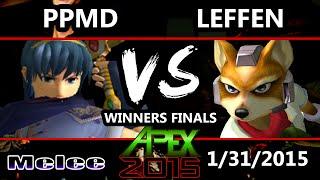 Apex 2015 - Leffen (Fox) Vs. PPMD (Marth) - Winners Finals - SSBM