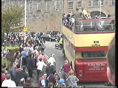 Burnley FC Promotion Open top Bus tour 1999/2000 Season Clarets