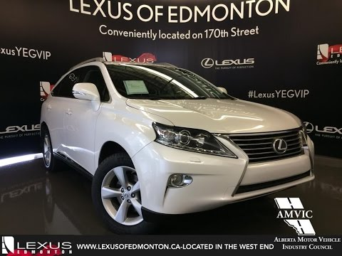 Used 2013 White Lexus RX 350 AWD Premium Walkaround Review | Airdrie Alberta