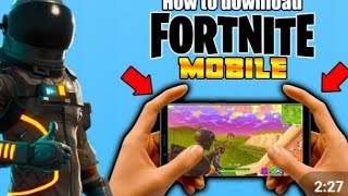 How to download fortnite on android it's the easy way to download it😃😃😃😃😃