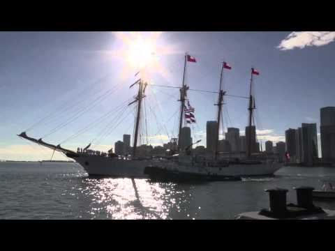 Chilean Navy Ship, B.E. Esmeralda, departs Port of Miami
