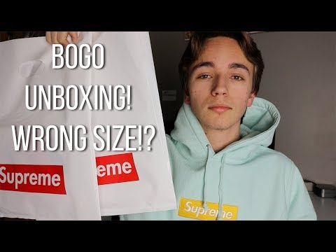 SUPREME BOX LOGO UNBOXING - I GOT THE WRONG SIZE!