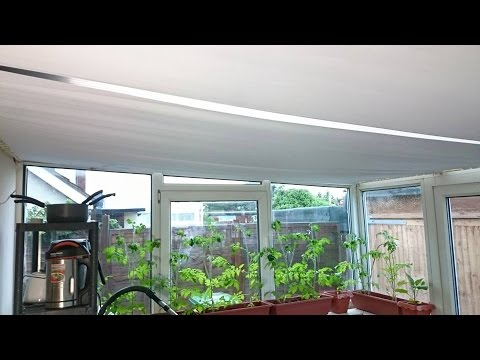 DIY Conservatory Sun Roof Blinds: Sloping Roof Covering 6 x
