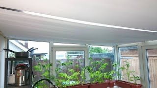 DIY Conservatory Sun Roof Blinds: Sloping Roof Covering 6 x 3 Metres