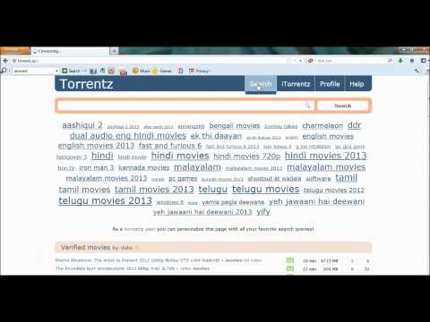 How To Download Movies From Torrentz com - YouTube