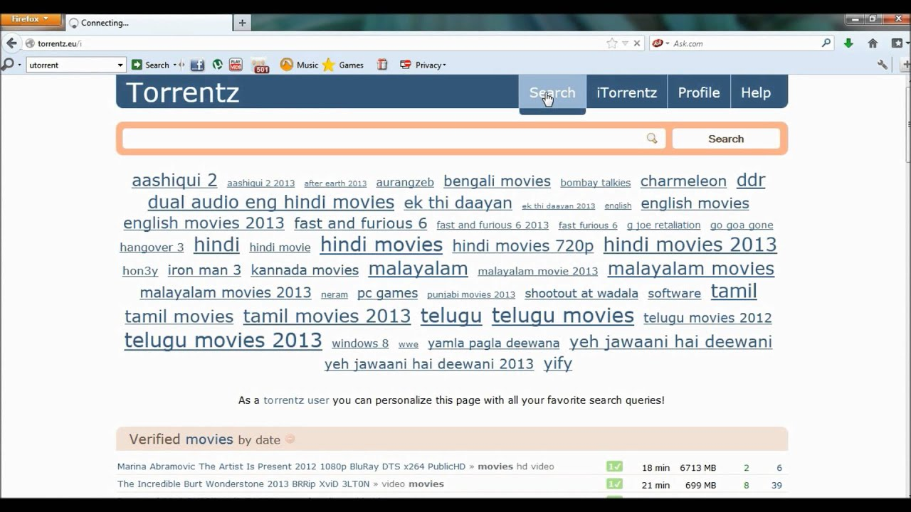 How To Download Movies From Torrentz.com