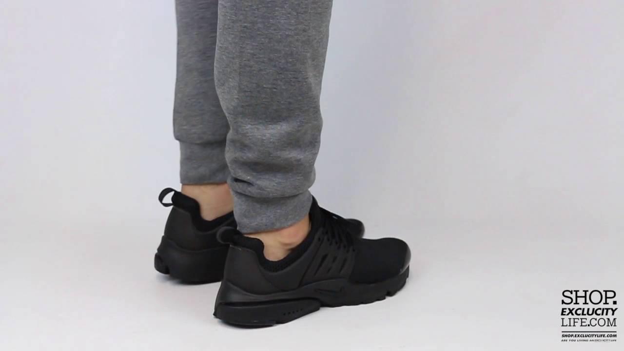 d383bf1e6ef0 Nike Presto Triple Black On feet Video at Exclucity - YouTube