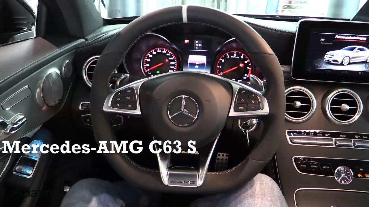 2017 mercedes amg c63 s coupe interior review youtube
