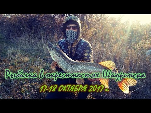 Рыбалка в окрестностях ШАДРИНСКА 17-18/10/2017 ловля щуки и судака на джиг поздней осенью