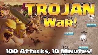 100 Attacks in last 10 Minutes! Epic Clan War Challenge | Clash of Clans