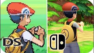 Pokémon Brilliant Diamond & Shining Pearl Graphics Comparison (Old vs. New) [FULL]