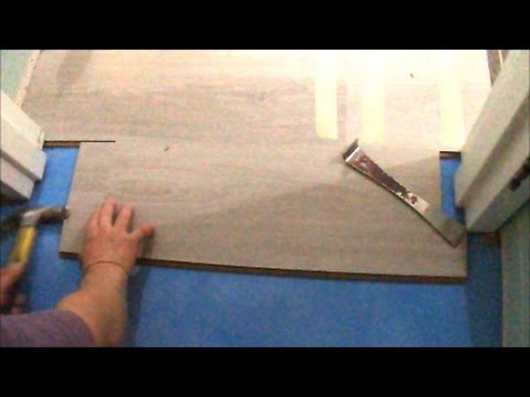 Laminate Cork Flooring Installation On Concrete Without Transitions In Details Mryoucandoityourself