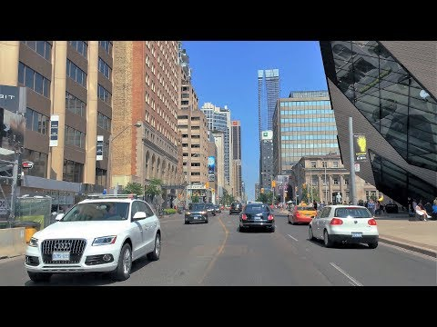 Driving Downtown - Toronto's Luxury Shopping Street - Toronto Canada