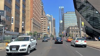 Driving Downtown - Toronto's Luxury Street - Canada 4K