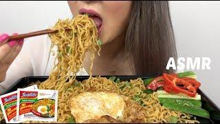Indomie mi Goreng Noodles   ASMR Eating Sounds   N.E Lets Eat