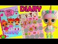 LOL Surprise Dolls Unicorn Find Secret Diary Light Up and Mystery Stickers Toy Video