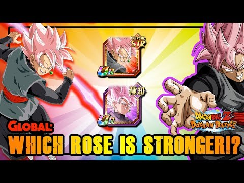 WHICH ROSE IS STRONGER!? GLOBAL IT IS TIME TO DECIDE!! DAMAGE TEST   DRAGON BALL Z DOKKAN BATTLE